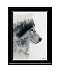 """Wolf Stare by andreas Lie, Ready to hang Framed Print, Black Frame, 15"""" x 19"""""""