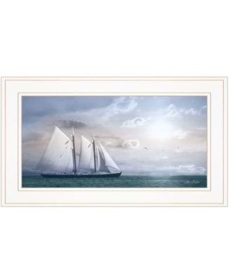 "Adventure on the Seas by Lori Deiter, Ready to hang Framed Print, White Frame, 21"" x 12"""
