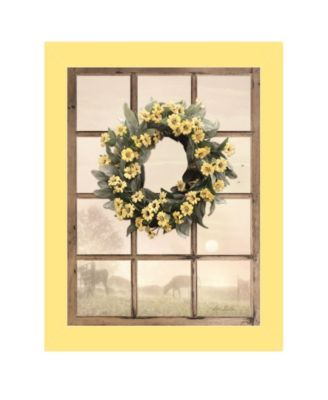 """Country Gazing by Lori Deiter, Ready to hang Framed Print, Yellow Window-Style Frame, 14"""" x 18"""""""