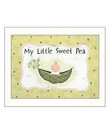 """My Little Sweet Pea By Lisa Kennedy, Printed Wall Art, Ready to hang, White Frame, 14"""" x 18"""""""