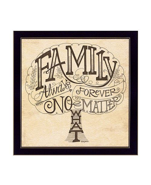 """Trendy Decor 4U Trendy Decor 4U Family - Always and Forever By Deb Strain, Printed Wall Art, Ready to hang, Black Frame, 20"""" x 20"""""""