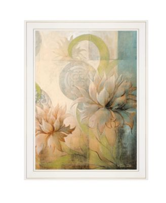 """Meandering Flowers II by Dee Dee, Ready to hang Framed Print, White Frame, 21"""" x 27"""""""