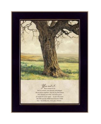 Forever By Bonnie Mohr, Printed Wall Art, Ready to hang, Black Frame, 14