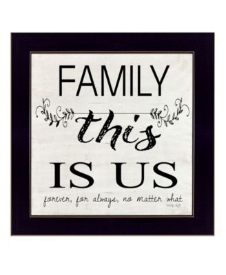 """Family - This is Us by Cindy Jacobs, Ready to hang Framed Print, Black Frame, 14"""" x 14"""""""