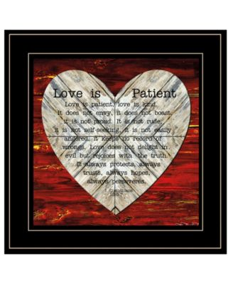 """Love is Patient by Cindy Jacobs, Ready to hang Framed Print, Black Frame, 15"""" x 15"""""""