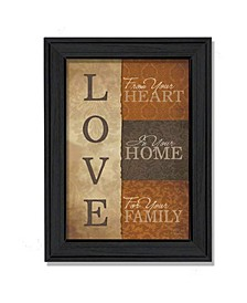 """Love By Lauren Rader, Printed Wall Art, Ready to hang, Black Frame, 15"""" x 19"""""""