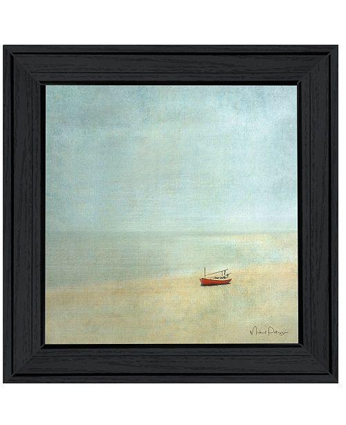 "Trendy Decor 4U Trendy Decor 4U Low Tide Beautiful Seascapes I by Michael Petrizzo, Ready to hang Framed Print, Black Frame, 15"" x 15"""