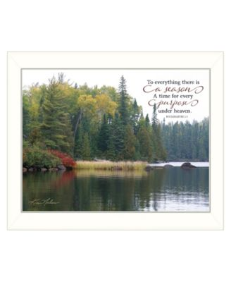 """To Everything There is a Season by Kim Norlien, Ready to hang Framed Print, White Frame, 18"""" x 14"""""""