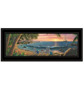 "Summer Breeze by Kim Norlien, Ready to hang Framed Print, Black Frame, 27"" x 11"""