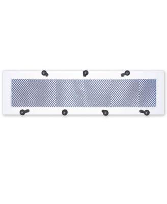 "7-Peg Mug Rack by Millwork Engineering, White Frame, 26"" x 7"""
