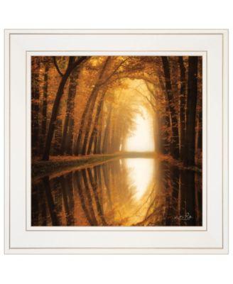 "Lochem Reflections by Martin Podt, Ready to hang Framed print, White Frame, 15"" x 15"""