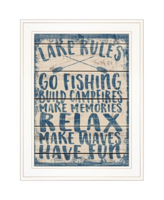 """Lake Rules by Misty Michelle, Ready to hang Framed Print, White Frame, 15"""" x 19"""""""