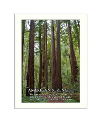 """American Strength By Trendy Decor4U, Printed Wall Art, Ready to hang, White Frame, 14"""" x 10"""""""