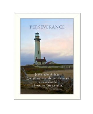"""Perseverance By Trendy Decor4U, Printed Wall Art, Ready to hang, White Frame, 14"""" x 10"""""""