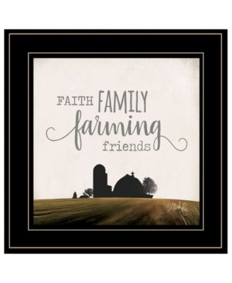 Faith, Family, Farming Friends by Marla Rae, Ready to hang Framed Print, White Frame, 15