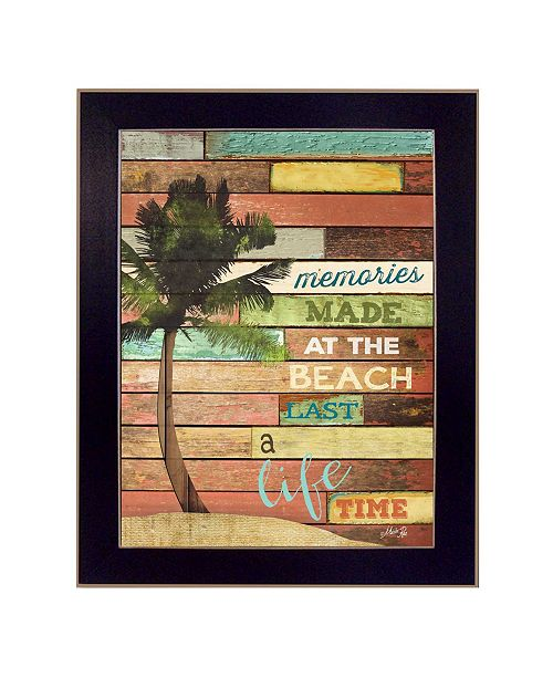 "Trendy Decor 4U Trendy Decor 4U Beach Memories By Marla Rae, Printed Wall Art, Ready to hang, Black Frame, 14"" x 18"""