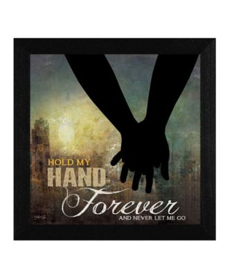 """Hold My Hand Forever By Marla Rae, Printed Wall Art, Ready to hang, Black Frame, 14"""" x 14"""""""