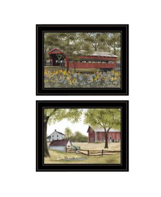 "The Spring House 2-Piece Vignette by Billy Jacob, Black Frame, 19"" x 15"""