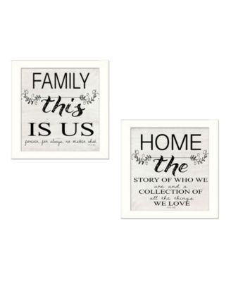 """Family 2-Piece Vignette by Cindy Jacobs, White Frame, 14"""" x 14"""""""