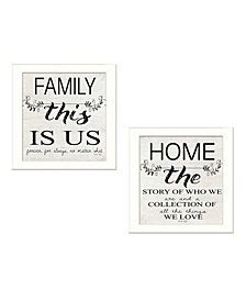 Trendy Decor 4U Family 2-Piece Vignette by Cindy Jacobs, Frame Collection