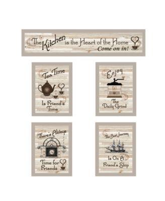 """Kitchen Friendship Collection II 5-Piece Vignette by Millwork Engineering, Sand Frame, 32"""" x 10"""""""