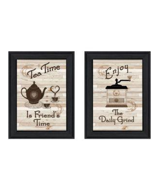 Enjoy Tea Time 2-Piece Vignette by Millwork Engineering, Sand Frame, 14