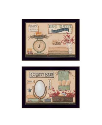 """Country Bath III Collection By Pam Britton, Printed Wall Art, Ready to hang, Black Frame, 18"""" x 14"""""""