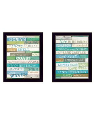 """Live in The Present Collection By Marla Rae, Printed Wall Art, Ready to hang, Black Frame, 14"""" x 18"""""""