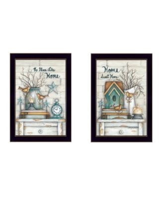 """Home Sweet Home Collection By Mary June, Printed Wall Art, Ready to hang, Black Frame, 28"""" x 20"""""""