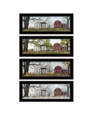 Four Seasons Collection II 4-Piece Vignette by Billy Jacobs, Black Frame, 21