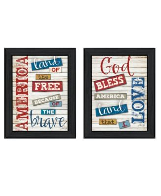"""American Collection By Marla Rae, Printed Wall Art, Ready to hang, Black Frame, 30"""" x 19"""""""