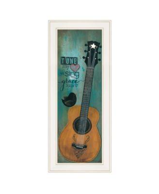 "Tune My Heart by Tonya Crawford, Ready to hang Framed print, White Frame, 9"" x 21"""