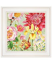 "Trendy Decor 4U English Garden III by Barb Tourtillotte, Ready to hang Framed Print, White Frame, 15"" x 15"""