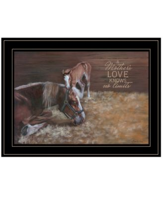 A Mother Love Horses by Pam Britton, Ready to hang Framed Print, Black Frame, 19