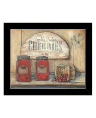 "CHERRY JAM by Pam Britton, Ready to hang Framed Print, Black Frame, 17"" x 14"""