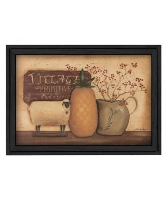"""Country Necessities By Pam Britton, Printed Wall Art, Ready to hang, Black Frame, 19"""" x 15"""""""