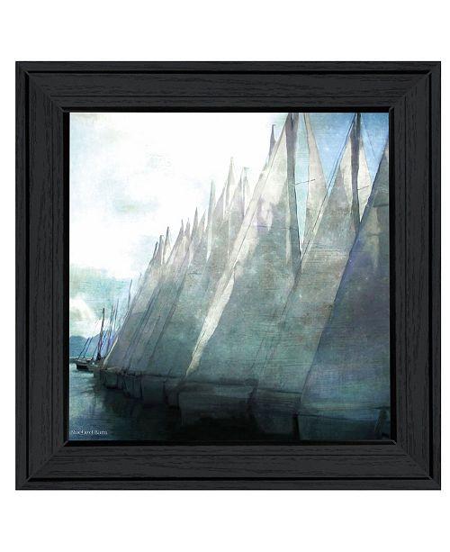 "Trendy Decor 4U Trendy Decor 4U Sailboat Marina I by Bluebird Barn Group, Ready to hang Framed Print, Black Frame, 15"" x 15"""