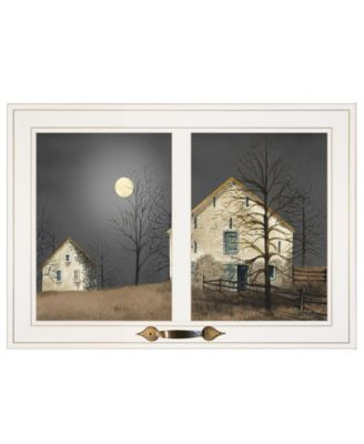 """Still of the Night by Billy Jacobs, Ready to hang Framed Print, White Window-Style Frame, 21"""" x 15"""""""