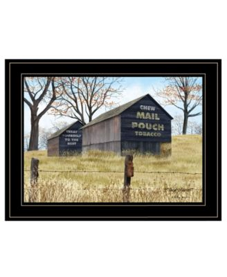 """Treat Yourself Mail Pouch Barn by Billy Jacobs, Ready to hang Framed Print, Black Frame, 19"""" x 15"""""""