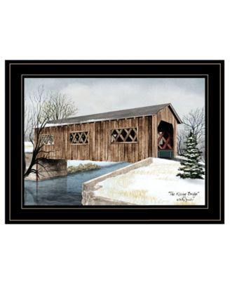 """The Kissing Bridge by Billy Jacobs, Ready to hang Framed Print, Black Frame, 19"""" x 15"""""""