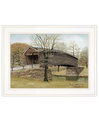 """The Old Humpback Bridge by Billy Jacobs, Ready to hang Framed Print, White Frame, 19"""" x 15"""""""