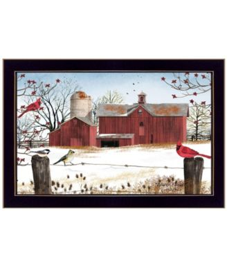 """Winter Friends by Billy Jacobs, Ready to hang Framed Print, Black Frame, 14"""" x 10"""""""
