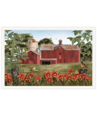 """Summer Days by Billy Jacobs, Ready to hang Framed Print, White Frame, 38"""" x 26"""""""