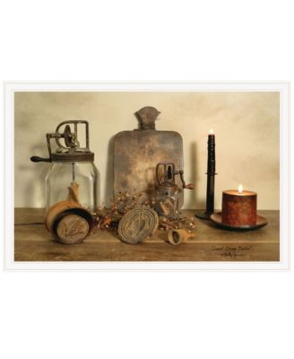 """Sweet Cream Butter by Billy Jacobs, Ready to hang Framed Print, White Frame, 38"""" x 26"""""""