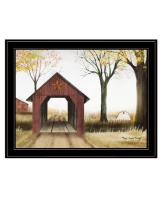 """Buck County Bridge by Billy Jacobs, Ready to hang Framed Print, Black Frame, 27"""" x 21"""""""
