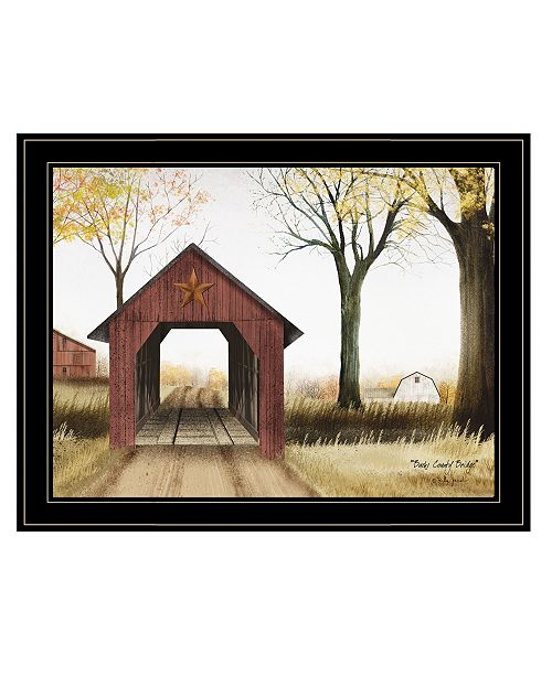 "Trendy Decor 4U Trendy Decor 4U Buck County Bridge by Billy Jacobs, Ready to hang Framed Print, Black Frame, 27"" x 21"""