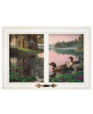 """Northern Tranquility by Kim Norlien, Ready to hang Framed Print, White Window-Style Frame, 21"""" x 15"""""""