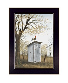 """Morning Commute Outhouse by Billy Jacobs, Ready to hang Framed Print, Black Frame, 14"""" x 18"""""""