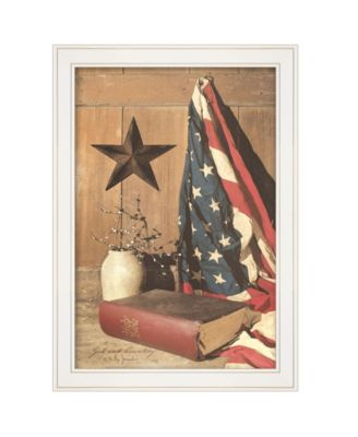 """God and Country by Billy Jacobs, Ready to hang Framed Print, White Frame, 15"""" x 21"""""""