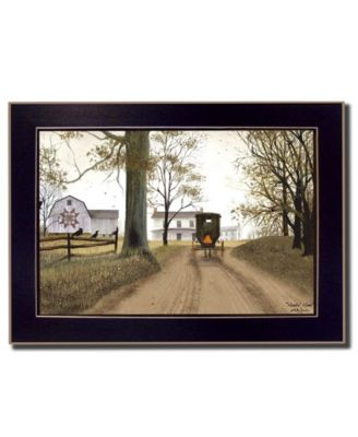 Headin' Home By Billy Jacobs, Printed Wall Art, Ready to hang, Black Frame, 19